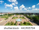patuxai park view from the top...   Shutterstock . vector #441905704