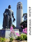 coit tower and statue | Shutterstock . vector #441919
