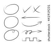 arrows  circles and check mark   Shutterstock .eps vector #441919231