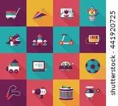 children's toy icons set | Shutterstock .eps vector #441920725
