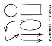arrows  circle vector... | Shutterstock .eps vector #441920911