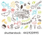 set of cute hand drawn doodle | Shutterstock . vector #441920995