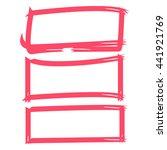 pink grunge rectangle frames | Shutterstock .eps vector #441921769