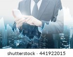 double exposure of professional ... | Shutterstock . vector #441922015