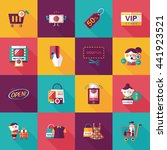 shopping and online shop icons... | Shutterstock .eps vector #441923521