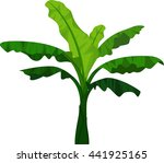 banana tree cartoon for you... | Shutterstock .eps vector #441925165