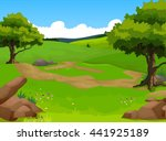 beauty forest with landscape... | Shutterstock .eps vector #441925189