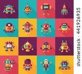 robot and artificial... | Shutterstock .eps vector #441926935