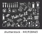 set of make up kit doodle | Shutterstock . vector #441928465