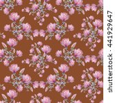 seamless floral pattern with...   Shutterstock . vector #441929647