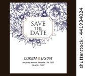 romantic invitation. wedding ... | Shutterstock .eps vector #441934024