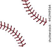 softball  baseball red lace... | Shutterstock .eps vector #441949564