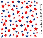 patriotic seamless pattern with ... | Shutterstock .eps vector #441952879