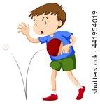 boy playint table tennis... | Shutterstock .eps vector #441954019