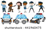 police officers and police cars ...