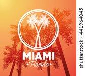 palm tree icon. miami florida...   Shutterstock .eps vector #441964045