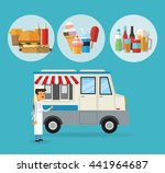 delicius food. truck icon.... | Shutterstock .eps vector #441964687