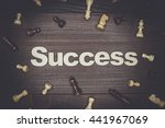 word success and chessmen on...   Shutterstock . vector #441967069