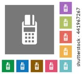 pos terminal flat icon set on... | Shutterstock .eps vector #441967267