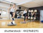 active men and women performing ... | Shutterstock . vector #441968191