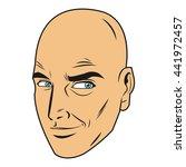bald man face | Shutterstock .eps vector #441972457