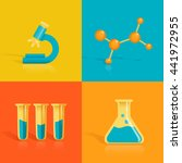 stylized science icons... | Shutterstock .eps vector #441972955
