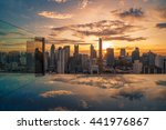 bangkok rooftop bars at sunset | Shutterstock . vector #441976867