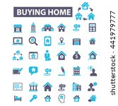 buying home icons | Shutterstock .eps vector #441979777