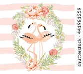 Blush Pink Tropical Birds...