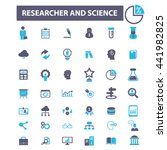 researcher and science icons | Shutterstock .eps vector #441982825