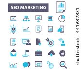 seo marketing icons | Shutterstock .eps vector #441982831