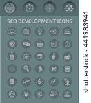seo development icon set vector   Shutterstock .eps vector #441983941