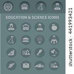 education icon set vector | Shutterstock .eps vector #441993421