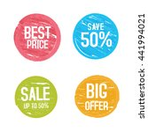 vector price tags. | Shutterstock .eps vector #441994021