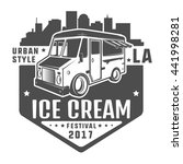 street food truck ice cream t... | Shutterstock .eps vector #441998281
