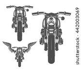 Set Of Motorcycle Vintage Style