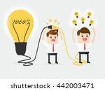 businessman connecting brain... | Shutterstock .eps vector #442003471