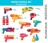 water guns flat set for water...