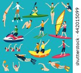 water sport and leasure... | Shutterstock .eps vector #442015099