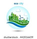 green energy urban landscape... | Shutterstock .eps vector #442016659