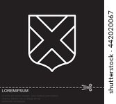 web line icon. shield. | Shutterstock .eps vector #442020067