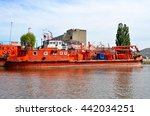 "Small photo of May 16, 2016. Russia, Kaliningrad. Fireboat ""Angrapa"""