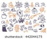 set of halloween doodle | Shutterstock . vector #442044175