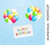 the inscription happy birthday... | Shutterstock . vector #442045129