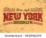 new york city typography... | Shutterstock . vector #442046254