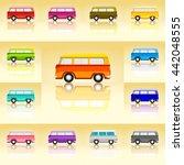 vintage van set icon. classic... | Shutterstock .eps vector #442048555