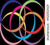 modern design colorful. black... | Shutterstock .eps vector #442052419