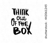 think out of the box. black ... | Shutterstock .eps vector #442061245