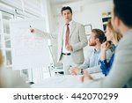 lecture and  training  in... | Shutterstock . vector #442070299