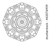 hand drawn mandalas. decorative ... | Shutterstock .eps vector #442076959